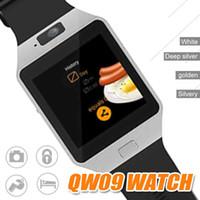 4.4 android smartwatch оптовых-QW09 SmartWatch Android 4.4 MTK6572 Dual Core 1.2 GHz ROM 4GB RAM 512MB/4GB Bluetooth 4.0 Smart Watch Camera шагомер браслет в реальном времени