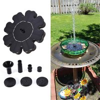 flores solares al aire libre al por mayor-Adornos Flor en forma de fuente de energía solar Baño de pájaros Agua flotante Piscina al aire libre Jardín Parque Escuela Familia Decoración diaria