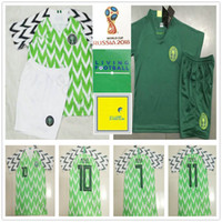 Wholesale kids blanks - Kids Soccer Jersey 9 STARBOY MIKEL SHEHU MUSA IHEANACHO IWOBI Blank Custom Home Men Women Youth 2018 World Cup Football Shirt Kit