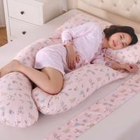almohada de vientre al por mayor-185 * 140 * 85 cm Almohadas Corporales Sleeping Pregnancy Pillow Belly Contoured Maternity U en forma de cubierta extraíble