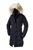 nefes alabilen dış giyim toptan satış-Kadın Kabanlar Palto Aşağı Kaz Shelburne Parka kadın Moda Ince Aşağı Ceket% 90% Beyaz Kaz Aşağı Nefes Sıcak Kapüşonlu Ceket