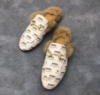 pelzoberseiten großhandel-Designer Echtleder Loafers Fur Muller Slipper mit Schnalle Fashion Damen Princetown Damen Casual Fur Mules Flats Neue Top Qualität
