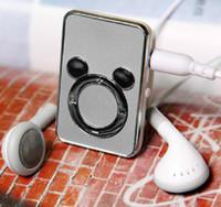 sd kart usb hediye toptan satış-Sıcak satmak hediye E326 Micky STIL MP3 Çalar Mini USB MP3 Çalar ILE Kulaklık Desteği 2/4/8/16 GB Mikro SD / TF kart Büyük satış