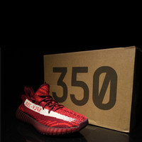 Wholesale Shoes Luxury Flat - HOTSALE WITH BOX 2018 New Boost 350 V2 Kanye West SPLY Blue Tint Zebra Women Men Mens Luxury Running Designer Shoes Sneakers Trainers