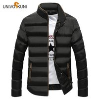Wholesale Youth Pads - UNIVOS KUNI Winter Fashion Jacket 2017 Brand Casual Men Warm Coat Cotton-Padded Thick Youth Outwear Coat Slim Male Clothing O176