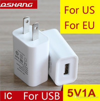 Wholesale European Charger Usb - Factory direct usb charger 5V1A charging head European regulations the United States regulations power adapter mobile phone charger wholesal