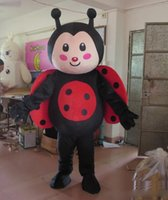 Wholesale plush costumes for adults - High quality hot real photos big plush ladybug mascot costume for adult to wear