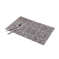 Wholesale Hot Pad Placemats - Hot Sale PVC Dining Table Placemats Heat Insulation Table Mat Coaster Bowl Pad Waterproof Cloth Pad
