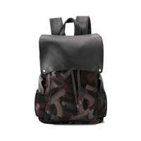 Wholesale book cover printing - New Fashion Brand Backpack Bag Men Backpacks 2018 Vintage Printed School Book Bags for College Student Casual Travel Daypacks Male Mochila