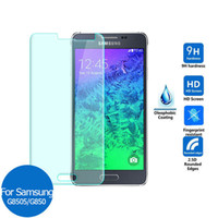 Wholesale samsung alpha screen resale online - For Samsung Galaxy Alpha G850F S4 Active I9295 A9 A9000 On5 G5700 C5 C5000 Tempered Glass Screen Protector mm D H Paper Package
