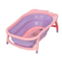 en iyi bebek banyoları toptan satış-Bebek Yürüyor Katlanır Küvet Sünger Hafif Taşınabilir Bebek Küvetleri ile Kalınlaşmış Çocuk Iyi Banyo Duş Ürünleri 2017