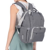 Wholesale free baby diaper bags resale online - Boutique Baby Diaper bags Mummy bag Backpack motherbag Grey Multifunction Big capacity Maternity Hotsale Free DHL Fedex