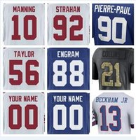 Wholesale american giant - New York Odell Beckham Jr Giants jerseys Lawrence Taylor Brandon Marshall green anthracite olive salute to service american football jersey
