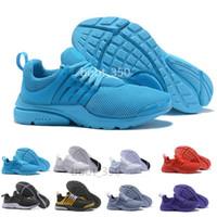 chaussures de respiration achat en gros de-nike air max presto Nouveau PRESTO BR QS Breathe Jaune Noir Blanc Hommes prestos Chaussures Sneakers Femmes Chaussures Casual Hommes Sports Chaussure Run formateur chaussures de designer