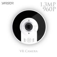 Wholesale Remote Access Cctv - 360 Degree Fisheye WIFI Camera 960P Wireless Panoramic Security IP Camera 1.3MP Home Security Surveillance CCTV Camera