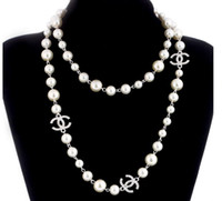 Wholesale pearl necklaces for sale - 2018 Korean Long Sweater Chain Colar Maxi Necklace Simulated Pearl Flowers Necklace Women Fashion Jewelry bijoux femme Christmas Gifts