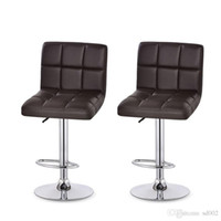 Wholesale genuine leather bars online - Cashier Office Stool Reception Chairs Rotate Chair Lift Bar Leather Ergonomics Modern Office Stools Indoors Commercial Furniture xt gg