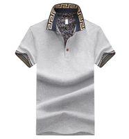 chemises grises noires pour hommes achat en gros de-Vêtements pour hommes T-shirt à manches courtes Summer Fashion Casual Black Grey Designer Shirt Taille M-4XL