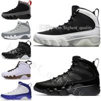siyah serin ayakkabılar toptan satış-9 9 s erkek Basketbol Ayakkabı LA Bredred OG Uzay Reçel Antrasit Lakers PE Ruhu Serin Gri Siyah Beyaz 2010 Yayın Tüm Siyah spor Sever