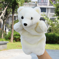 Wholesale polar bear birthday online - Cute Soft Animal Hand Puppet Finger Puppets Plush Toys Polar Bear Snake Monkey Hand Doll Toys for Children Birthday Gift