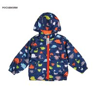 niños bebés chaquetas impermeables al por mayor-Niños niños niños con capucha impermeable cortavientos ropa de abrigo chaqueta de lluvia ropa de la chaqueta de la venta caliente Baby Boy ropa 3-7 T