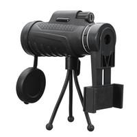 teleskop mobil für iphone großhandel-40X60 HD Zoom Objektiv Zwei Arten Wasserdichtes Monocular Teleskop + Stativ + Clip für Handys für Samsung für iPhone Im Freien