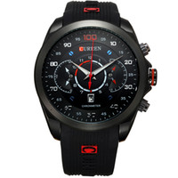новые конструкции часов оптовых-2016 New Fashion  Curren  Design Army Calendar Men Male Clock Sport Rubber  Wrist Watch relogio masculino