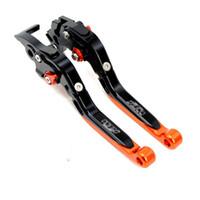 Wholesale ktm brake lever - Orange CNC Folding Extending Brake Clutch Levers For KTM 1290 Super Duke R690Duke