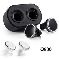 écouteurs de piste achat en gros de-Q800 Bluetooth 4.1 Twins Écouteurs True Wireless Écouteurs Stéréo Mini Écouteurs In-Ear Gauche Droite Double Channel Track