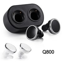 Wholesale mobile phone track - Q800 Bluetooth 4.1 Twins Earphones True Wireless Stereo Earbuds Mini In-Ear Headsets Left Right Channel Double Track Mobile Phone Headphones