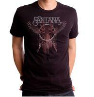 moda latina venda por atacado-Moda Engraçado Tops Tees Oficial SANTANA Rock band Logotipo do vôo latin guitarrista T-shirt adulto XL top de Alta Qualidade Roupas Casuais