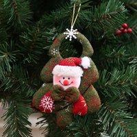bira yılbaşı hediyeleri toptan satış-3D Noel ağacı dokunmamış kumaş Noel süslemeleri Noel Baba kardan adam David'in geyik bira hediyeler pencere Kolye Şenlikli Parti Malzemeleri