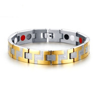 Wholesale bracelets mix order for sale - Group buy Mixed order Christmas gift brand new men s stainless steel bracelet magnetic stone germanium bracelet Brazalete de acero inoxidable G