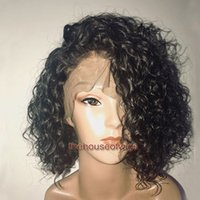 Wholesale burmese colors - Bob Lace Front wig Brazilian bob full lace wigs for black women human hair wigs Pre Plucked Hairline baby hair bleached knots