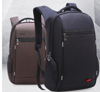 Wholesale colour fish - Wholesale- New Men's Business Travel bag Computer Backpack Function USB Charging Backpack 17 inch black and brown colour