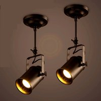 ingrosso caffè principale-E27 LED Loft Vintage Retro Pendant Lamp Dome Light Sala da pranzo Pub Cafe Restaurant Aisle Bar Droplight Chandelier Store Stage Lamps