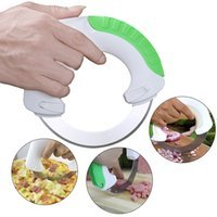 Wholesale Circular Cutters - Circular Annular Cutter Kitchen Knife Chopping Artifact Pizza 2016 Portable Safety Convenience Multifunctional Tools Home Kits