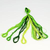 ingrosso cordone artigianale giallo-popolare colore 4 seta di seta / ricamo Spiraea / filo di seta di colore comune / filo di seta ricamo a mano