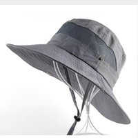 Sun Hat men Bucket Hats women Summer Fishin Cap Wide Brim UV Protection  Flap Hat Breathable mesh bone gorras Beach hat men afc97a2f26c8