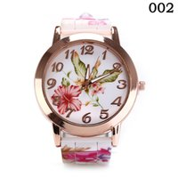 новые дизайны часов для девочек оптовых-2018 New Design Silicone Printed Flower Women Causal Quartz Wrist Watches Female Gift Girl Watch