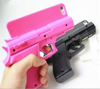 Wholesale cool water cooled pcs online - Luxury Cool phone cases for iphone X iphone S plus S hard PC defender case gun design protector case GSZ167