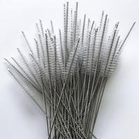 ingrosso tubo di nylon-Pulitori per tubi Pulitori per pulitori in paglia di nylon Spazzola per tubi in acciaio inox 17 cm