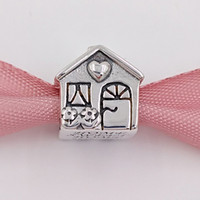 ingrosso casa di hobby-Autentico 925 Sterling Silver Beads Home Sweet Home Charm Adatto europeo Pandora Style Jewelry Bracciali collana 791267 casa