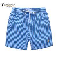 pantalones de baño de playa al por mayor-M517 Hombres Pantalones cortos sarga de ocio impresos deportes de los hombres de alta calidad Pantalones de playa Traje de baño Bermuda Carta Masculina Surf Life Men Swim