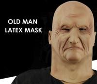 borracha de látex venda por atacado-Máscara de Látex de homem Velho Máscara Do Partido Do Homem Velho disfarce Trajes de Látex Trajes de Cabeça de Borracha Adulto máscaras Masquerade Cosplay Adereços