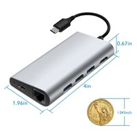 Wholesale China Output - Aluminium alloy USB C Hub with 3 USB 3.0 Ports 4K Output Card Reader LAN Port Type-C Charging port for Macbook pro
