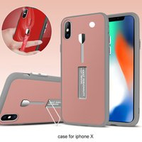 Wholesale Full Body Design - 2018 New Design Case Hybrid 360 Degree Full Body Protective Case Cover With Kickstand For iPhone X 8 8plus 7 6 6S Plus 5 5s Sumsung S8 plus