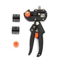 herramientas de injerto de cuchillas al por mayor-Máquina de injerto Herramientas de jardín con 2 cuchillas Herramientas de injerto de árbol Tijeras de podar Herramienta de injerto de corte Pruner