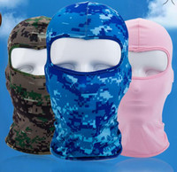 Wholesale tactical caps resale online - Bicycle Cycling Masks Motorcycle Barakra Hat Cycling Caps Outdoor Sport Ski Mask CS windproof dust head sets Camouflage Tactical Mask