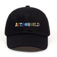 gorras de pelota para hombres al por mayor-ASTROWORLD Travis Scotts Diseñador de Sombreros Cartas Bordados Hip Hop Ball Caps Hombres Mujeres Sombreros Tamaño libre